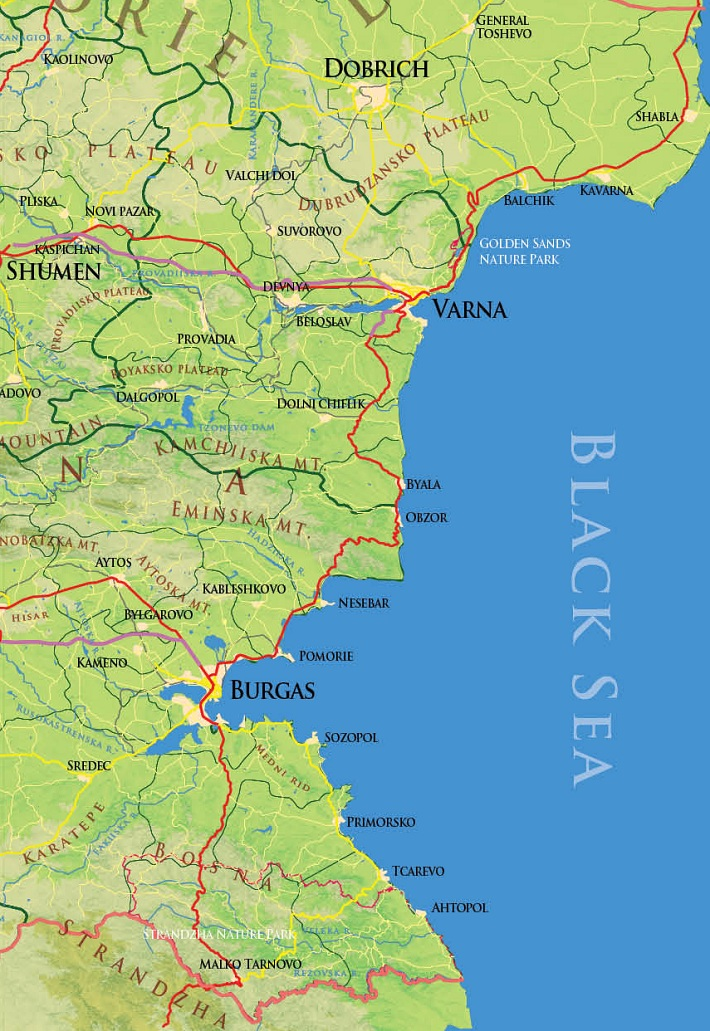 карта побережье