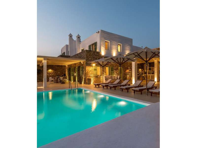 Luxury Villa with view of Delos, Tinos and Syros